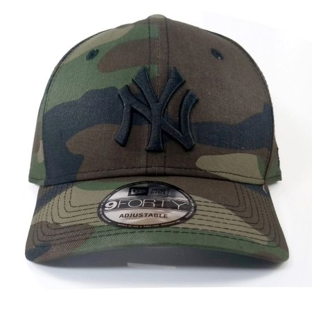 Boné New Era 940 Snapback Aba Curva NY Militar Camuflado