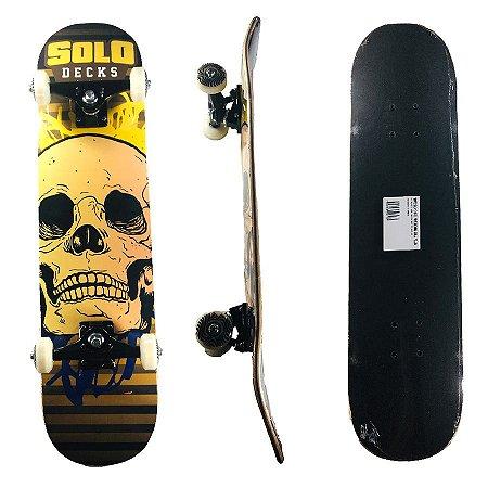 Skate Montado Profissional Solo Skull Yellow