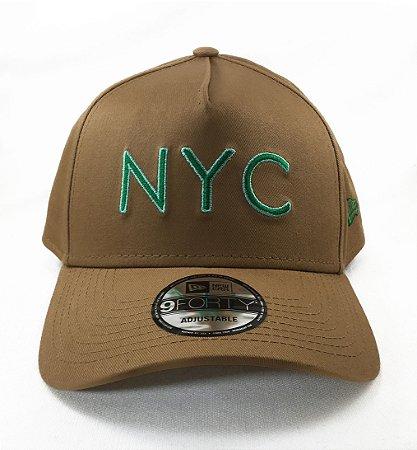 Boné New Era 940 Snapback Aba Curva NYC Veranito- KAKI