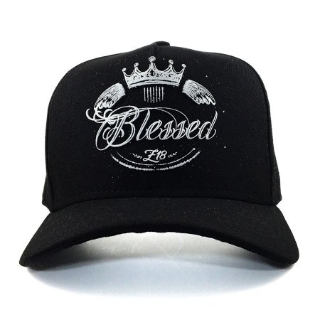 Boné  Zero18 Snapback Blessed Black