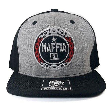 Boné  Maffia & Co Snapback Logo Mescla/Preto