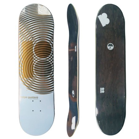 Shape Para Skate Plan B Maple Felipe Gustavo Gold 7.80