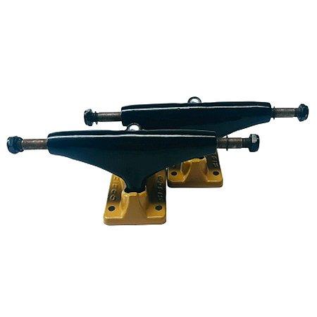 Truck Cisco Skate 139mm Preto/Dourado