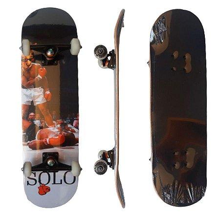 Skate Montado Profissional Solo Decks Nocaute - Até 120kgs