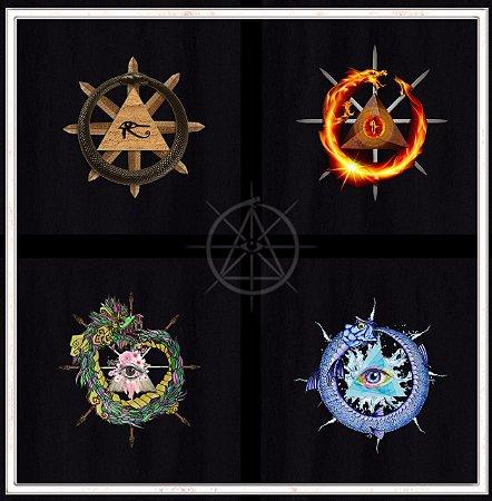 Conjunto de Camisetas dos 4 Elementos