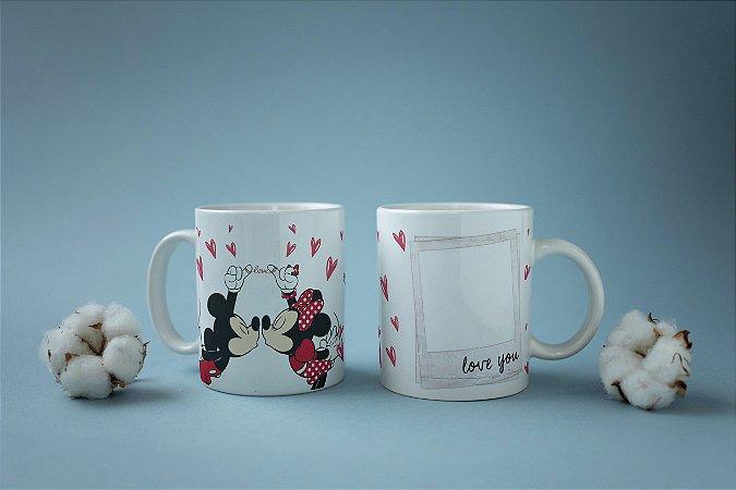 Caneca Mickey e Minnie com foto