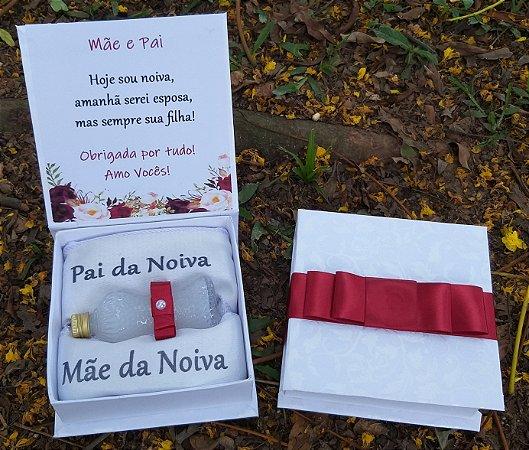 Caixa Presente para Mãe e Pai dos Noivos