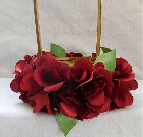 Cesta para florista rústica com flores