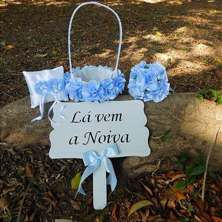 Kit Azul Serenety - Crianças no casamento