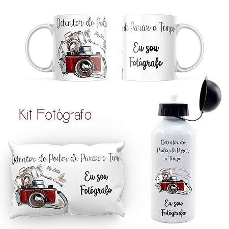 Kit Almofada + Caneca + Squezze / Dia do Fotógrafo