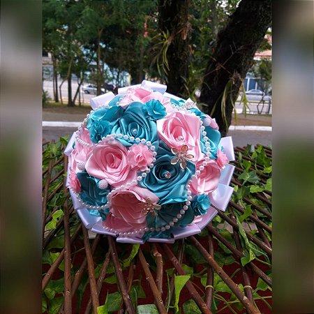 Buquê de Noiva - Rosas Colombianas - Tifanny e Rosa Claro