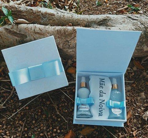 Caixa Presente ( Toalha de Mão + 1 Sabonete liquido + 1 Creme hidratante)