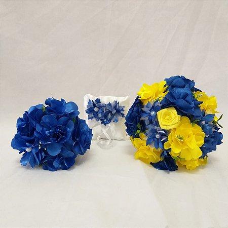 Kit Azul royal e Amarelo - 3 peças