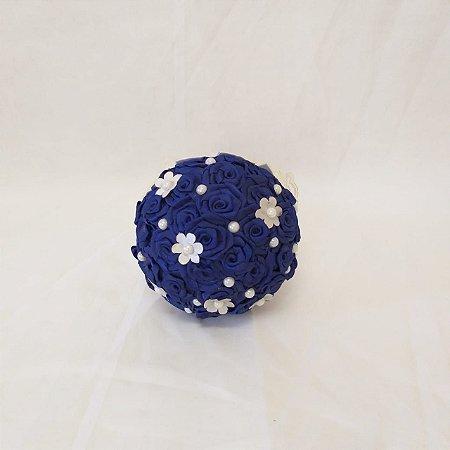 Buquê Rosinha Azul Royal