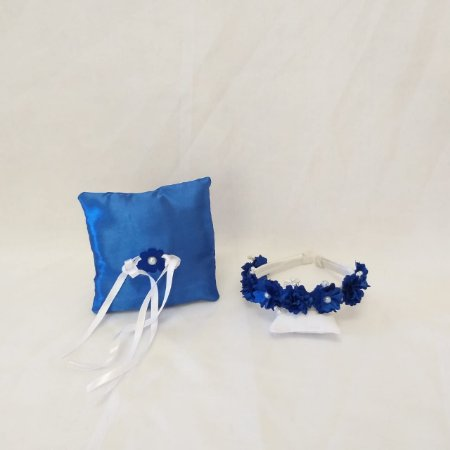 Kit Almofada + Tiara Azul Royal