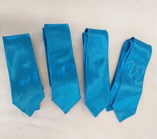 8 Gravatas Azul Turquesa