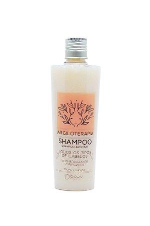 Shampoo Argila Branca Remineralizante Purificante 250 ml Argiloterapia