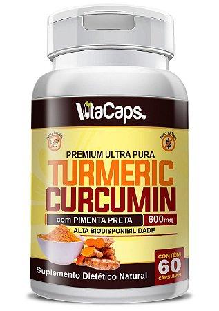 Turmeric Curcumin 60 Cápsulas Cúrcuma + Pimenta Negra Vita Caps