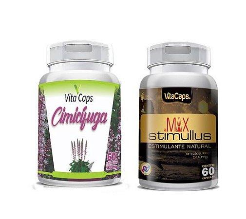 Kit 1 Cimicifuga + 1 Max Stimulus VitaCaps