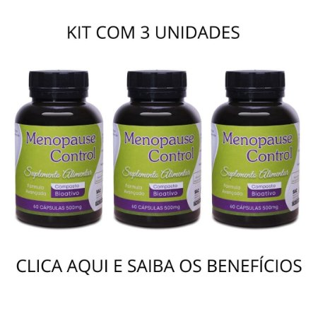 MENOPAUSECONTROL - CONTROLA A MENOPAUSA KIT COM 3 UND.