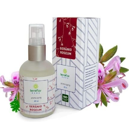 Aroma Spray óleo de Gerânio Roseum