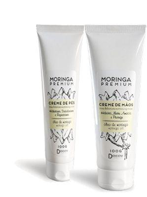 1 Creme Hidrante de Mãos Moringa Premium + 1 Creme Hidrante de pés Moringa Premium