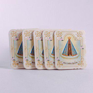 Cartão com Velcro Nossa Senhora Aparecida - 5 unidades