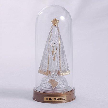 Imagem Nossa Senhora Aparecida Plástico LED com cúpula 15cm