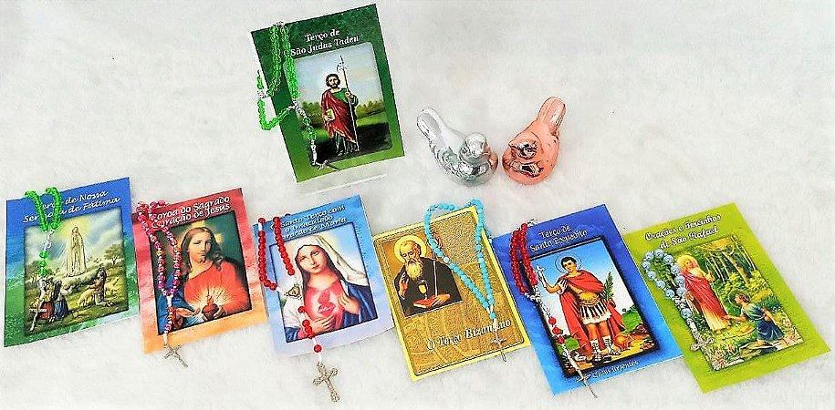 Terço com folheto de Oração Diversos und.