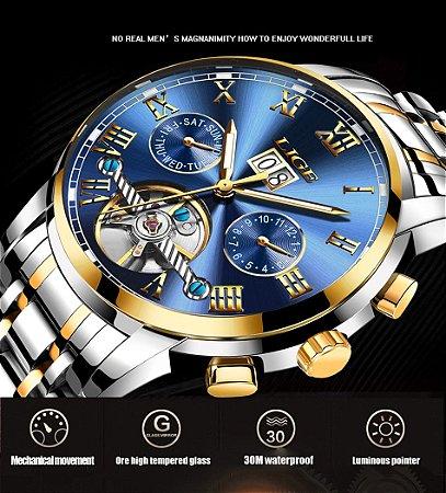 20ef1bea837 Relógios Esportivos Prova D  Água Top de Luxo Automático Mecânico ...