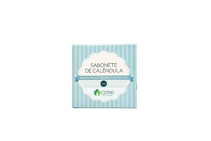 Sabonete Vegetal de Calêndula Natural Cativa 100g