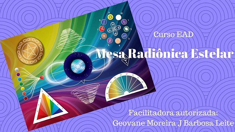 Curso EAD Mesa Radiônica Estelar Arco Íris
