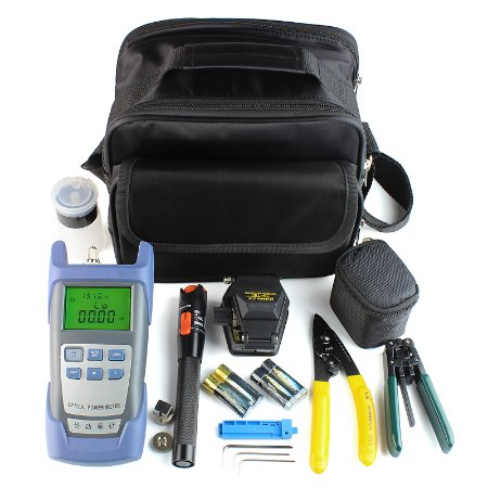 FTTH Terminal Cold Assemble Tool Kit Bag 9pcs Versão B