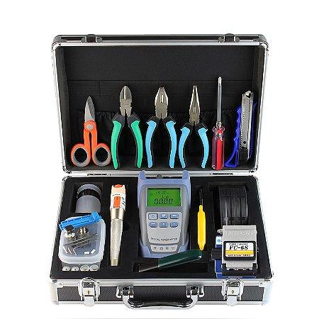 FTTH Terminal Cold Assemble Tool Kit BOX 16pcs Versão A