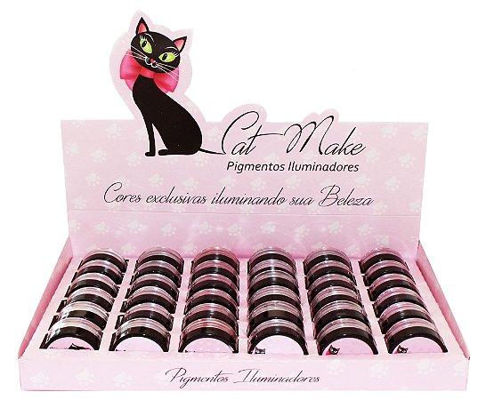 PIGMENTO ILUMINADOR CAT MAKE - DISPLAY B COM 30 UNIDADES + PROVADORES