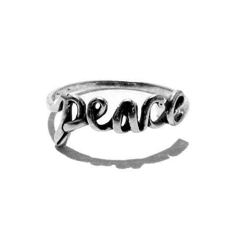 ANEL PEACE EM PRATA 925 ENVELHECIDA