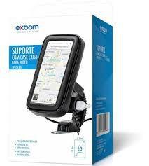 SUPORTE COM CASE E USB PARA MOTO EXBOM SP-CA25L