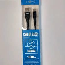 CABO CARREGADOR E TRANSMISSOR DE DADOS 2.4A CBO-5800 INOVA
