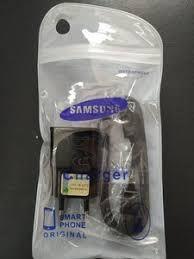 CARREGADOR SAMSUNG 2 EM 1 USB CHARGER V8 ORIGINAL NACIONAL EMBALAGEM SAQUINHO