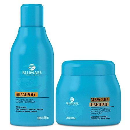 Kit Shampoo e Máscara para Hidratação Ultra Rápida - Blumare Pro