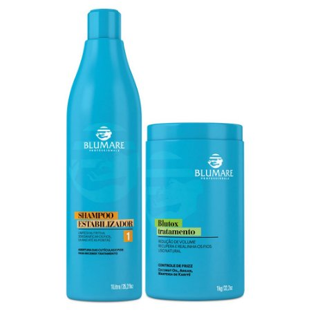 Shampoo Estabilizador Anti Resíduo + Blutox Tratamento - 2 Produtos