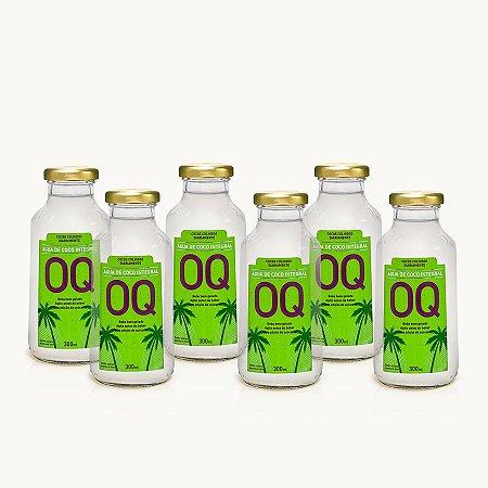 ÁGUA DE COCO INTEGRAL OQ | 300ml | Caixa 6 Garrafas