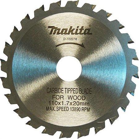 Disco de Corte para Madeira Makita 110mm x 20mm