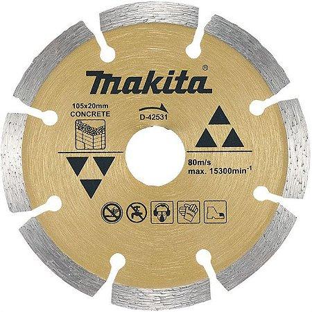 Disco de Corte Segmentado Diamantado Makita para Concreto 105mm