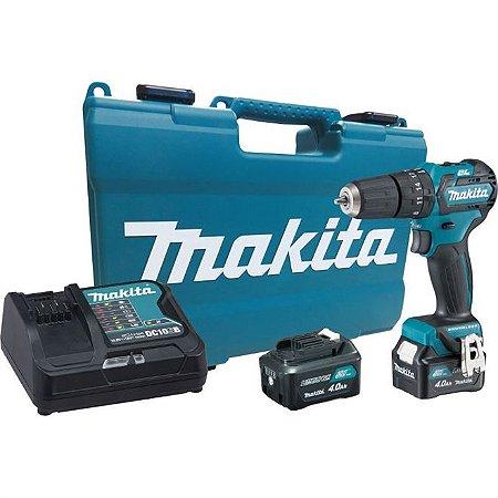 Parafusadeira Furadeira de Impacto à Bateria Makita HP332DSME