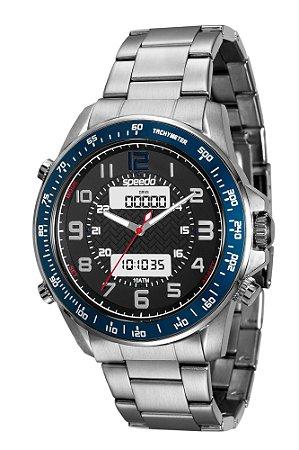 30273dfc59c Relógio Speedo Adulto de Pulso Masculino em Aço Escovado Inoxidável ...