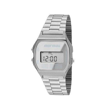 809a5cc48e485 Relógio Mormaii Feminino de Pulso Digital com Caixa de Aço Inoxidável  Escovado