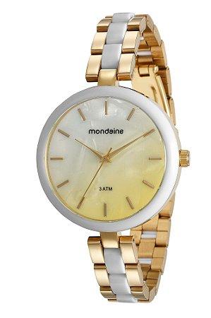 cd8087f44311c Relógio de Pulso Mondaine Feminino Dourado em Aço - Pollock ...