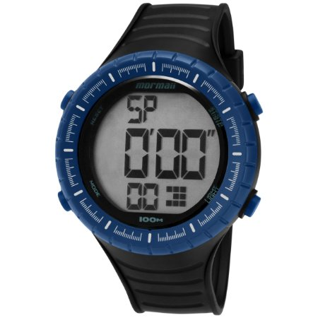 6b756783977c4 Relógio Digital Mormaii Azul e Preto Masculino - Pollock Relojoaria ...