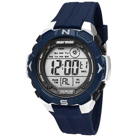 41989187efb3b Relógio Digital Mormaii Masculino Azul - Pollock Relojoaria e Loja ...